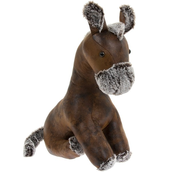 FAUX LEATHER HORSE DOORSTOP