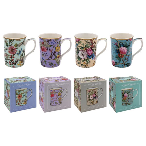 WILLIAM MORRIS MUGS 4 ASSTD