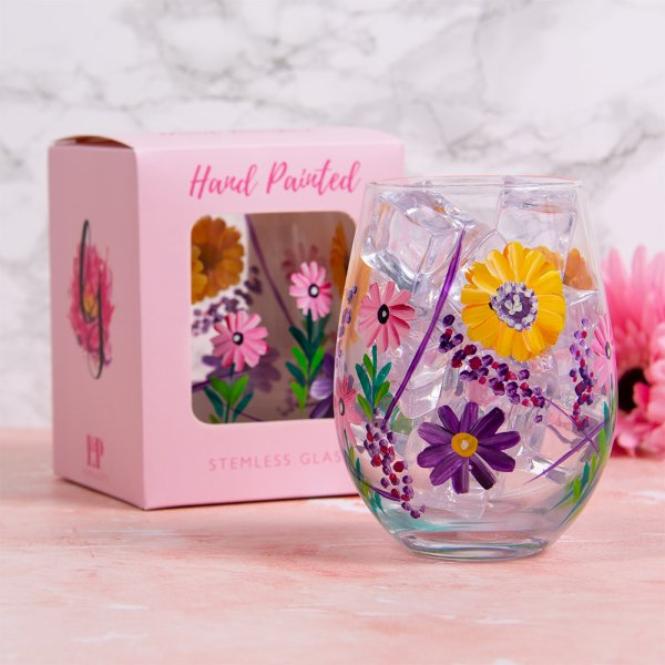SUNFLOWERS STEMLESS GLASS