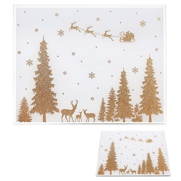 XMAS GOLD GLIT PLACEMATS S2
