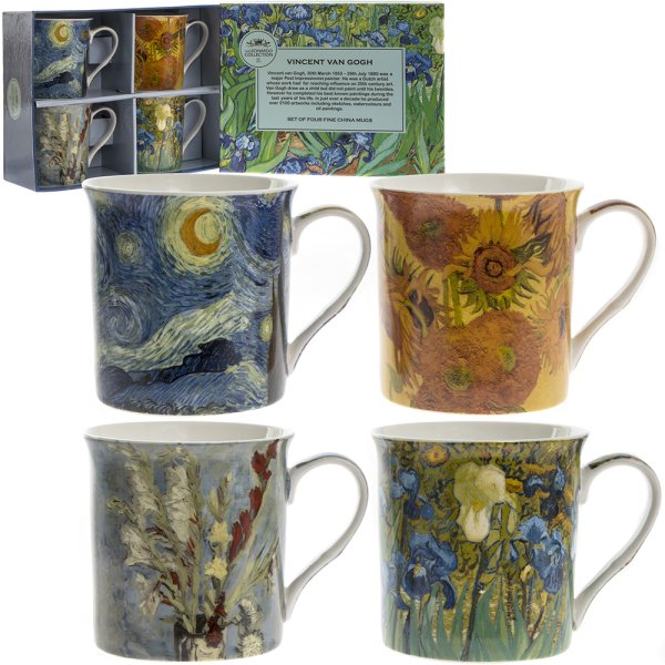 VAN GOGH MUGS SET OF 4