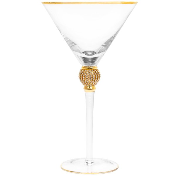 DIAMANTE GOLD MARTINI GLASS