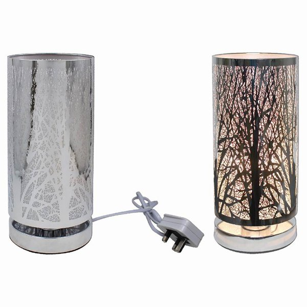 SILVER TOUCH LAMP WOODLAND