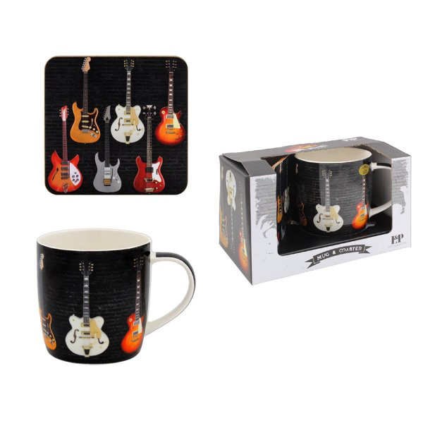 GUITAR MUG AND COASTER