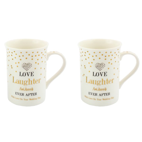 MAD DOTS LOVE/LAUGHTER MUGS S2