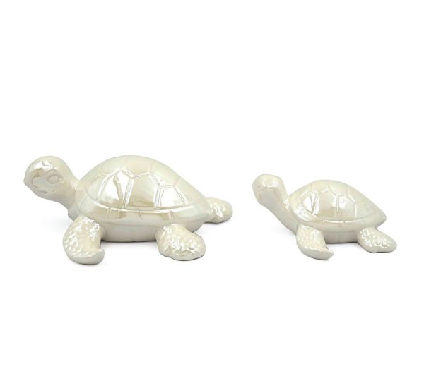 CERAMIC LUSTRE TURTLE PAIR
