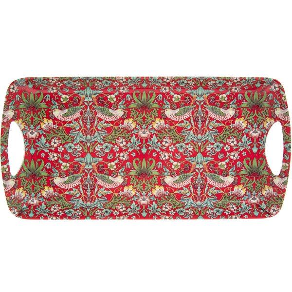 RED STRAWBERRY THIEF TRAY MED