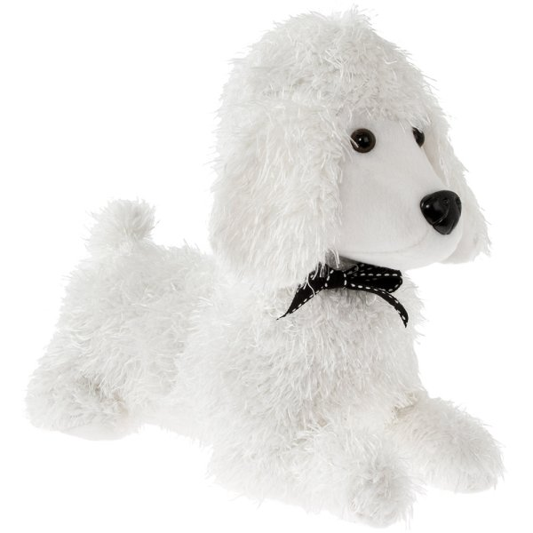 POODLE DOORSTOP WHITE