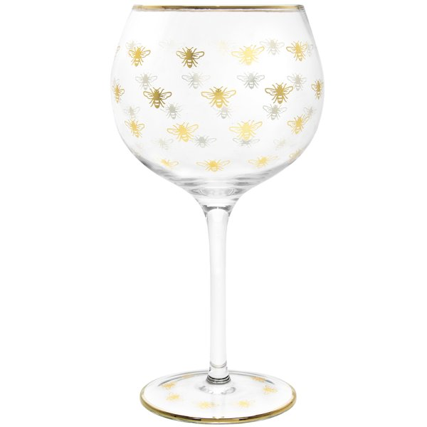 GOLD BEES GIN GLASS