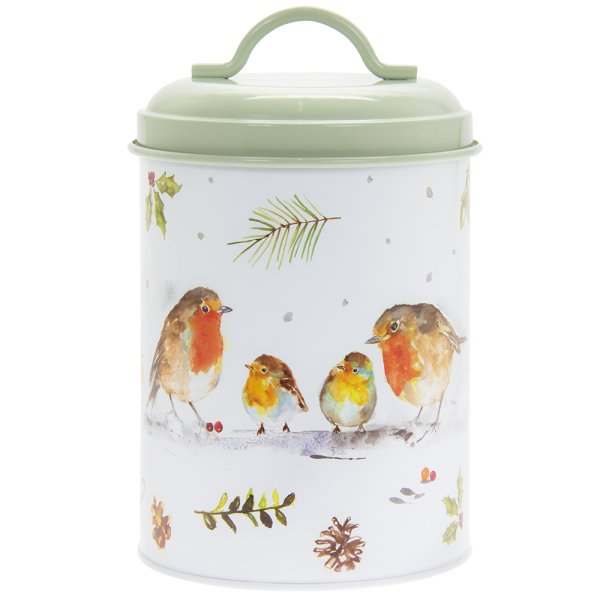 WINTER ROBINS CANISTER SML