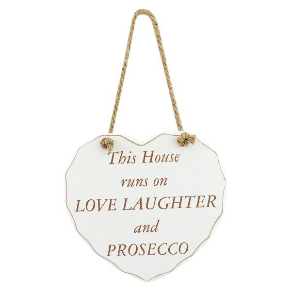 PROSECCO LOVE LAUGH HEART PLQ