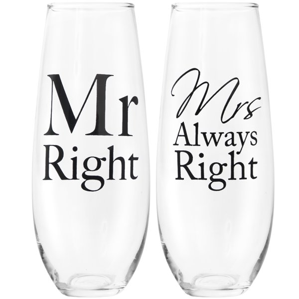 MR&MRS RIGHT STEMLESSFLUTES S2