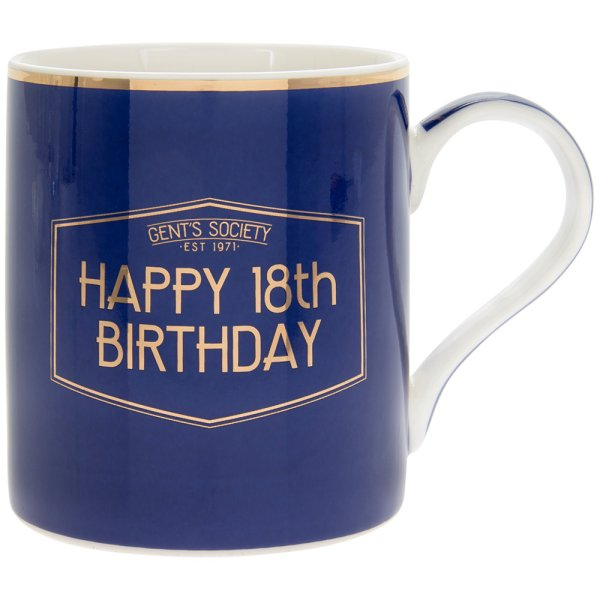 GENT'S SOCIETY HAPPY 18TH MUG