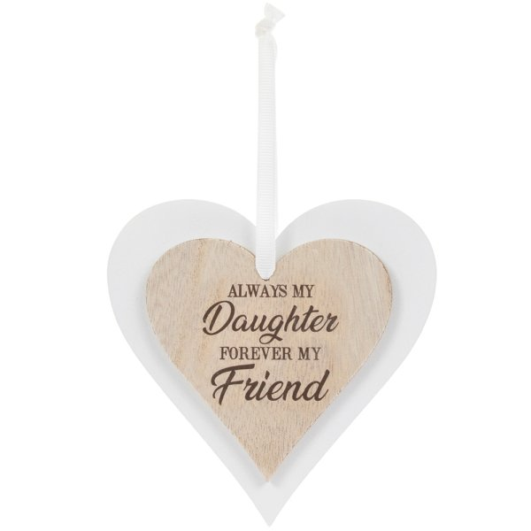 DBL HEART PLAQUE DAUGHTER