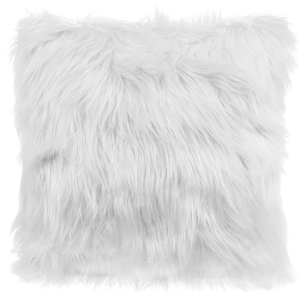 FURRY CUSHION WHITE