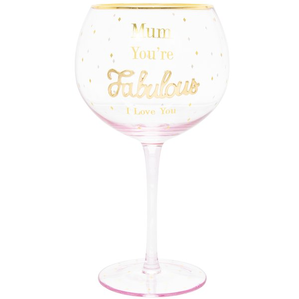 OH SO CHARMING MUM GIN GLASS