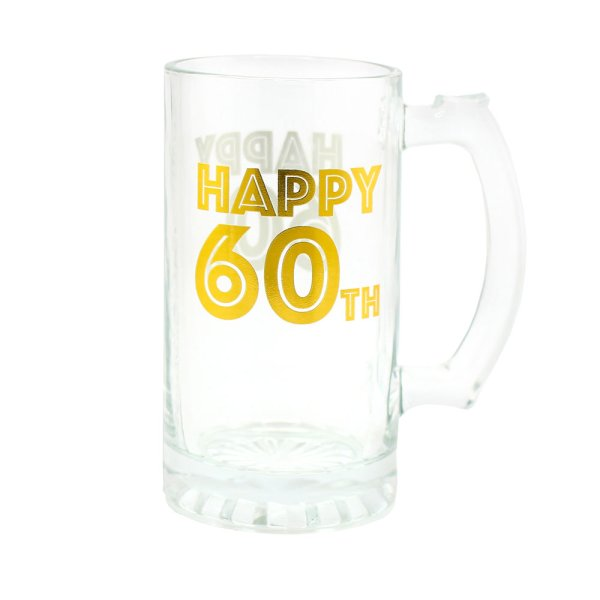 HAPPY 60TH TANKARD