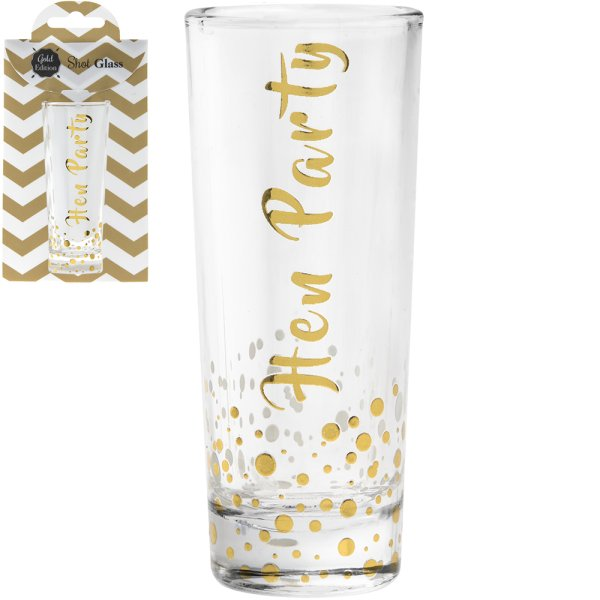 GOLD SHOT GLASS HEN PARTY