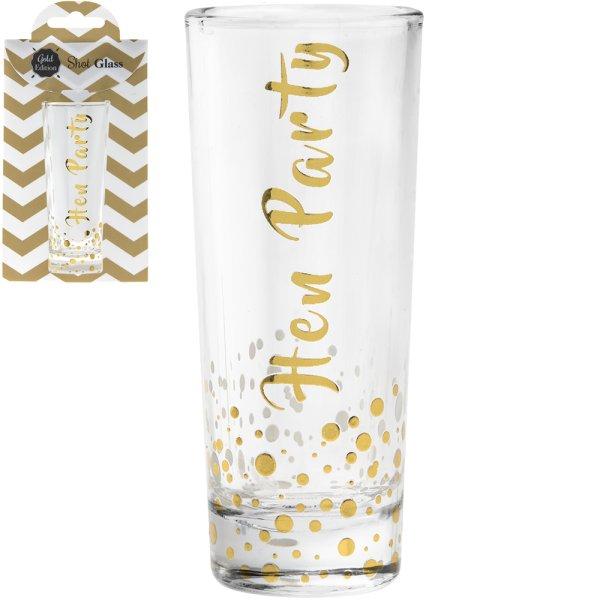 GOLD SHOT GLASS HEN PARTY