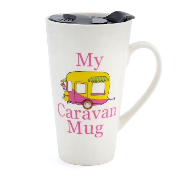 MY CARAVAN TRAVEL MUG PINK