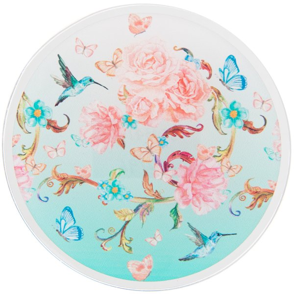MIRROR BLOSSOM CANDLE PLATE 10