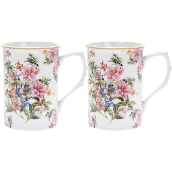 LILY ROSE MUGS SET OF 2
