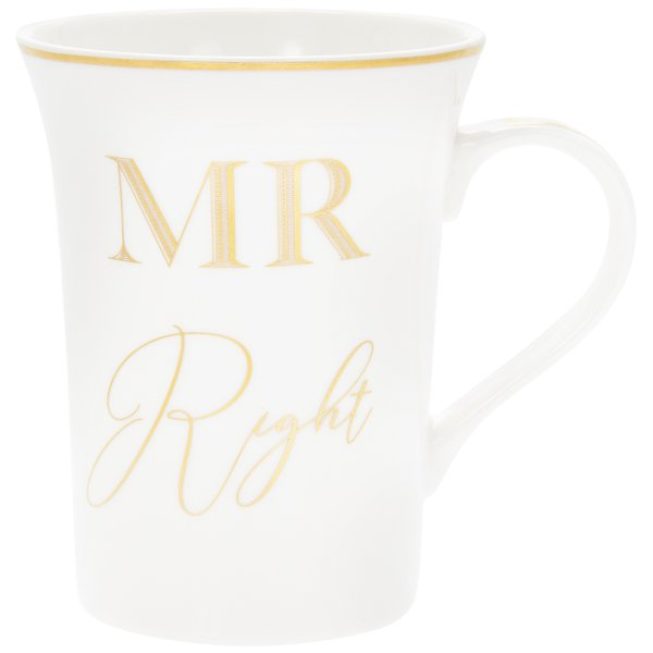 GOLD MR RIGHT MUG