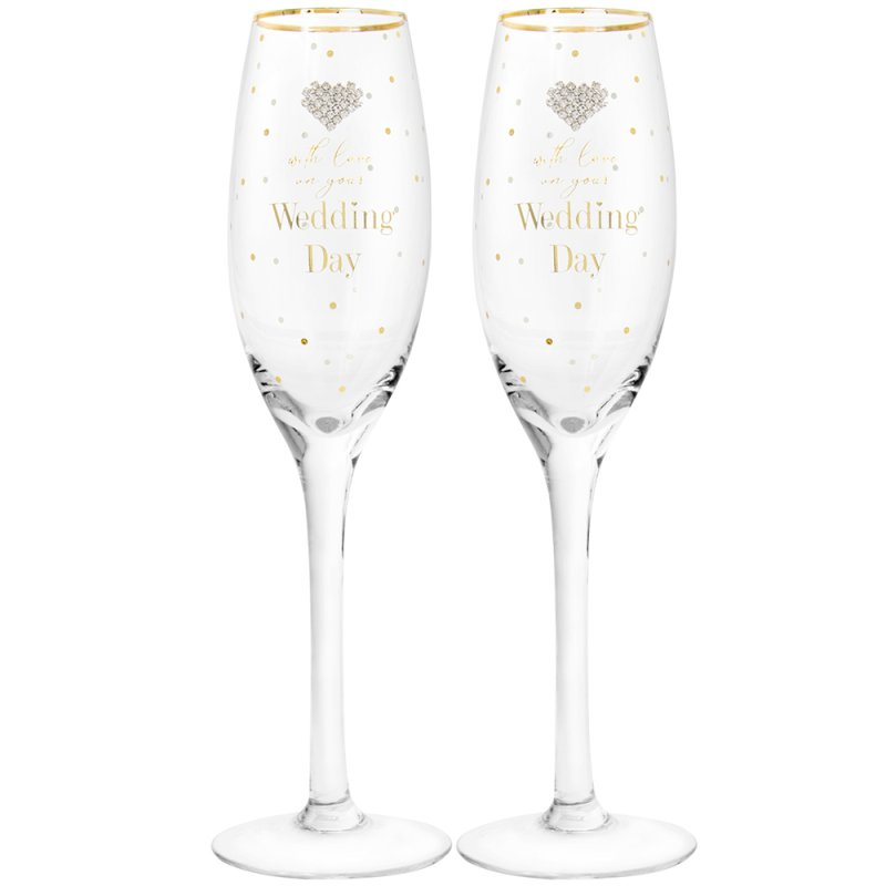 MAD DOTS WEDDING FLUTES