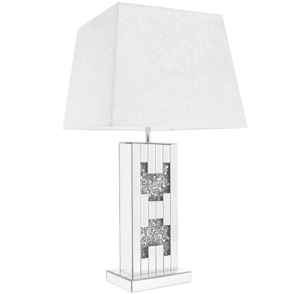 CRYSTAL CLEAR MIRR LAMP SILVER