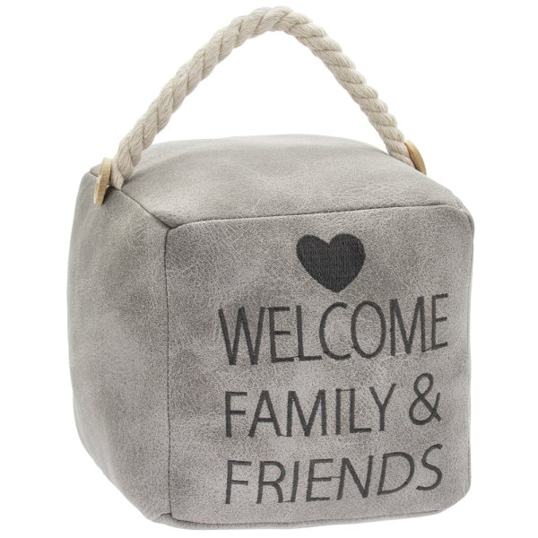 GREY FAUX LEATHER FAMILY DSTOP