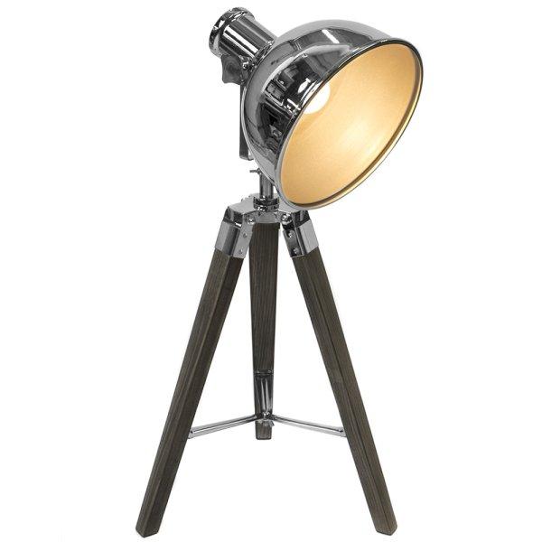 TRIPOD TABLE LAMP BLACK/GOLD