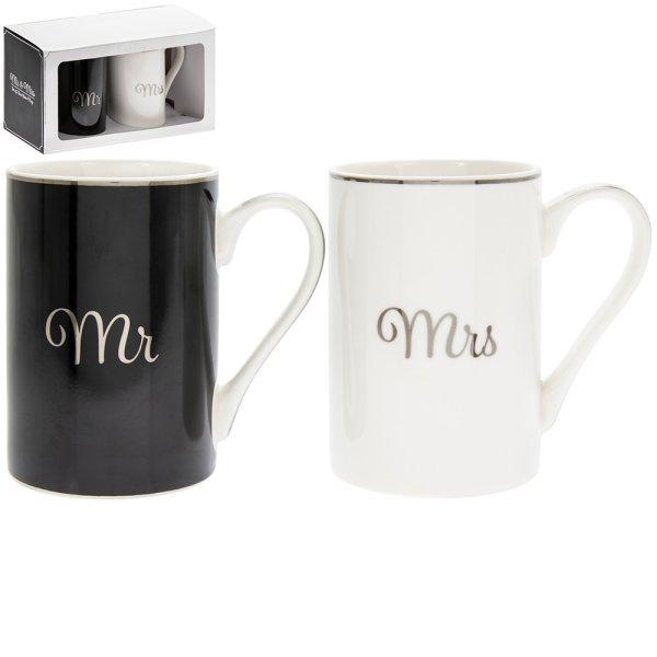 MR & MRS SET OF 2 MUGS