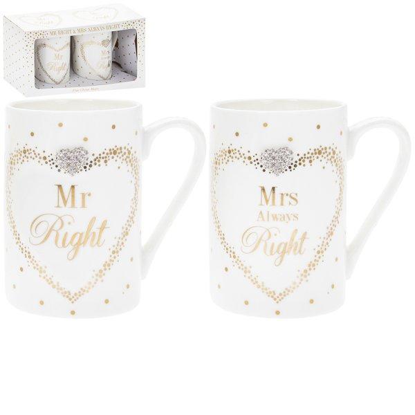 MADDOTS MR/MRS RIGHT MUGS