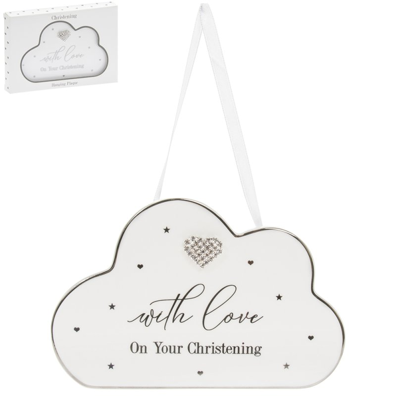 MAD DOTS CHRISTENING HEART PLQ