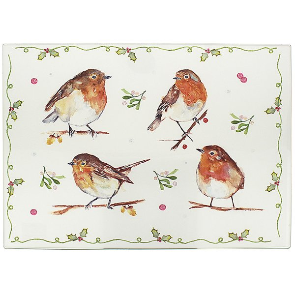 WINTER ROBINS CUTTING BOARD