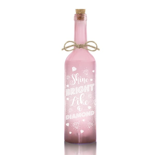 LED BOTTLE PINK SHINE BRIGHT
