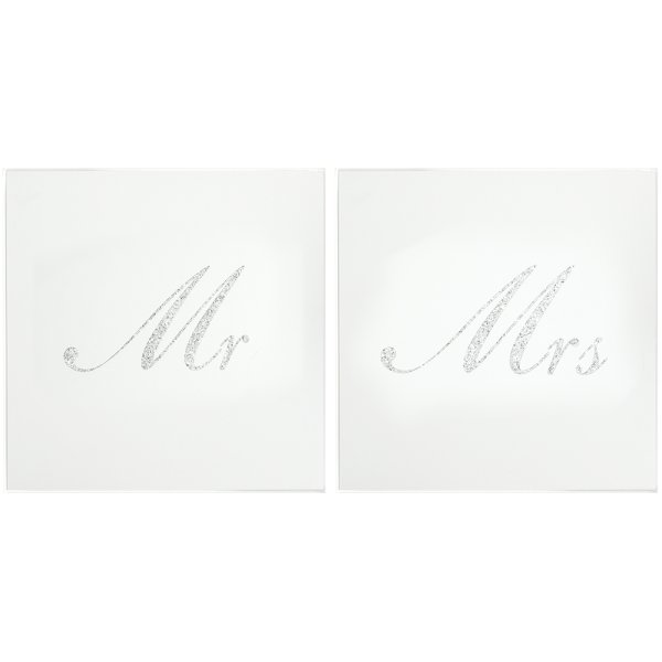 SILVER MR & MRS COASTERS