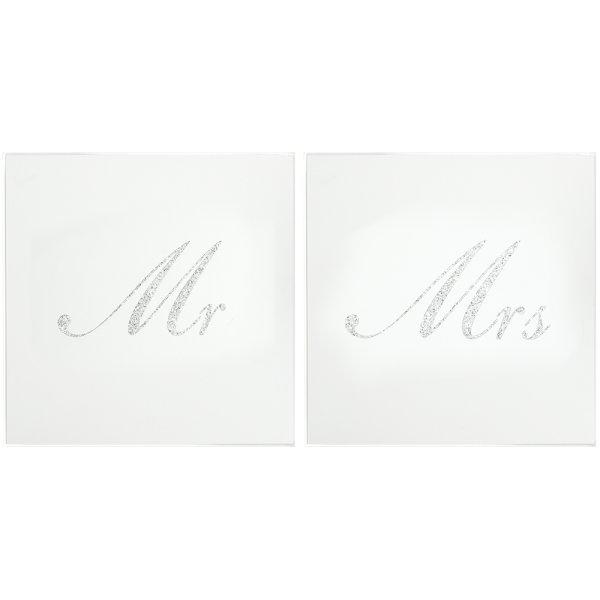 SIL GLITTER MR&MRS COASTERS