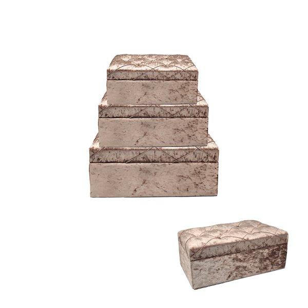 BLUSH STORAGE BOXES S3