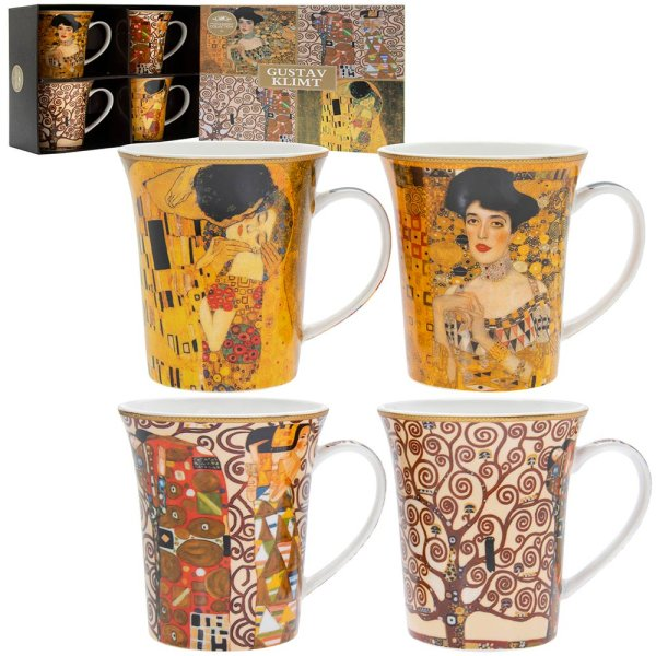 GUSTAV KLIMT MUGS SET OF 4