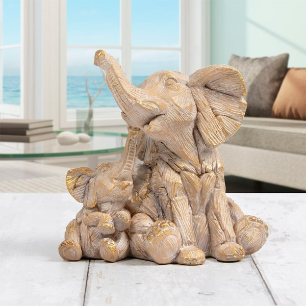 DRIFTWOOD ELEPHANT WITH BABY