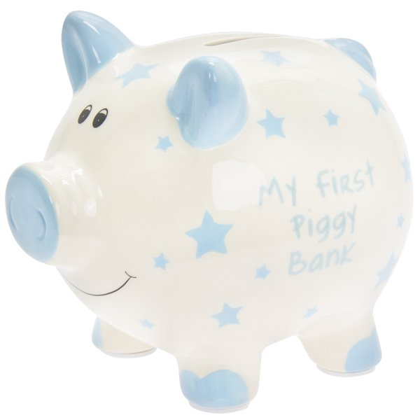 MY FIRST PIGGY BANK BLUE LARGE