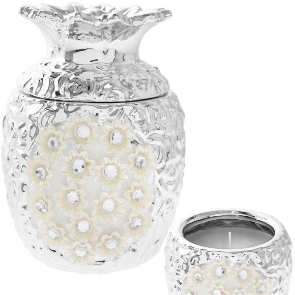 SILVER MILLE PINEAPPLE CANDLE