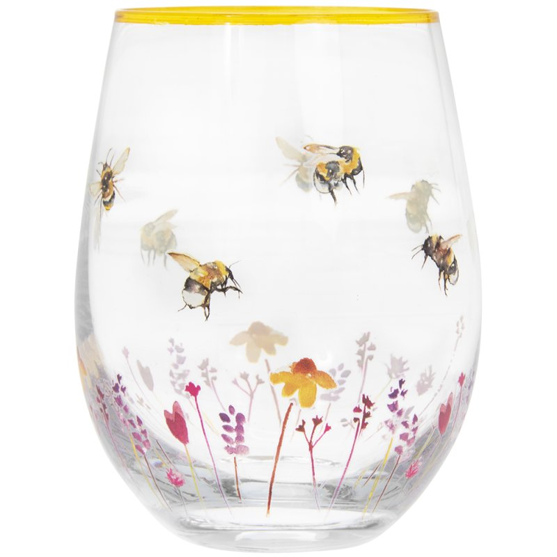 BUSY BEES STEMLESS GLASS