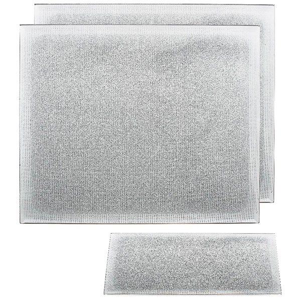 SILVER GLITTER PLACEMATS SET2