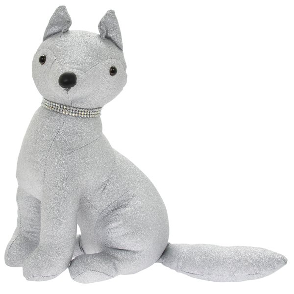 SILVER BLING FOX DOORSTOP
