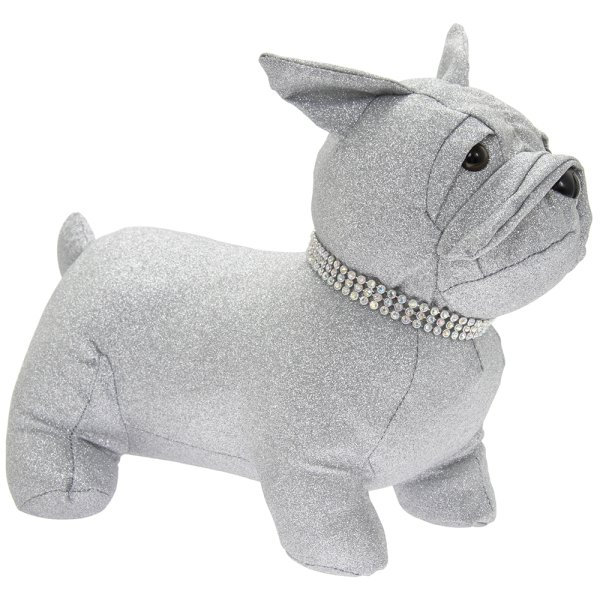 SILVER BLING FRENCHIE DOORSTOP