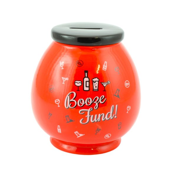 BOOZE FUND CERAMIC MONEY BOX