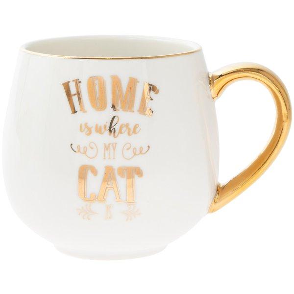 HOME IS WHERE MY CAT IS HUGMUG