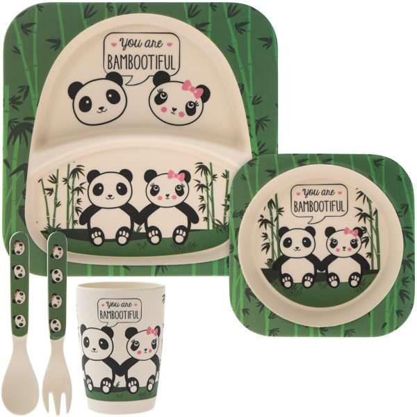 BAMBOO ECO EATING SET PANDA